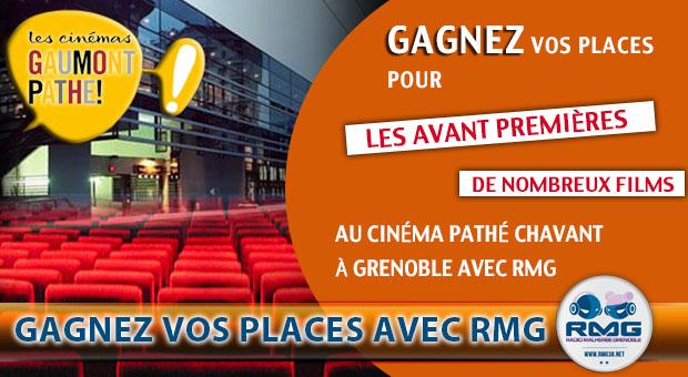 Gagnez vos places de cinéma avec RMG